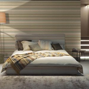 Missoni Home wallpaper panel Zigzag Multicolore metal 20064