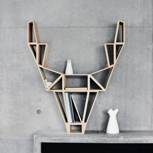 BEdesign Deer Shelf solid oak
