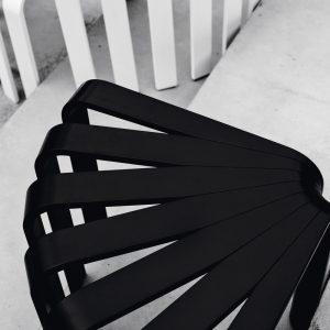 BEdesign Fan Stool black