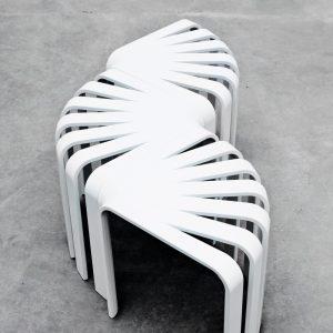 BEdesign Fan Stool white