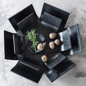 BEdesign Lily Bowl oak black