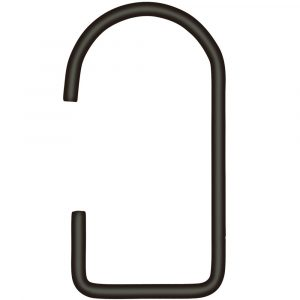 BEdesign Lume hook charcoal - set of 2