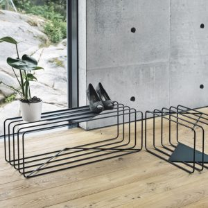 BEdesign Lume shoe stand charcoal