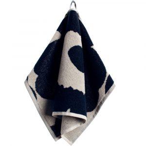 Marimekko guest towel Unikko black-sand