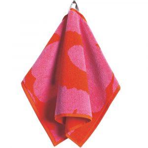 Marimekko guest towel Unikko red-pink