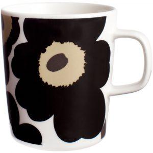 Marimekko mug Unikko black