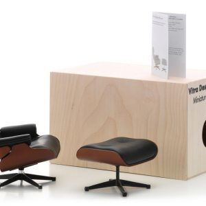 Vitra Lounge Chair and Ottoman miniature