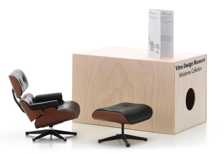 Vitra Lounge Chair and Ottoman miniature
