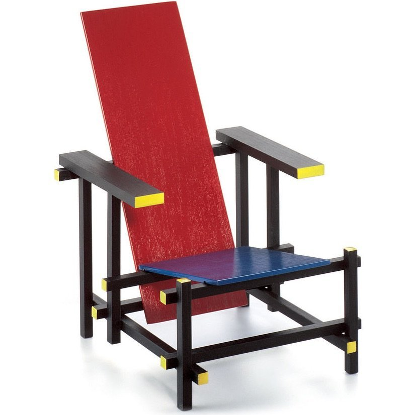 Vitra Red Blue Chair miniature