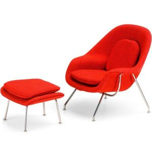 Vitra Womb Chair and Ottoman miniature