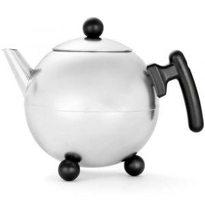 Bredemeijer teapot Duet Bella Ronde Aluminium Grey