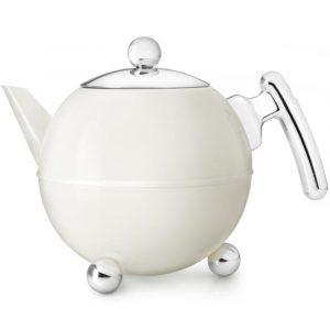 Bredemeijer teapot Duet Bella Ronde Cream White