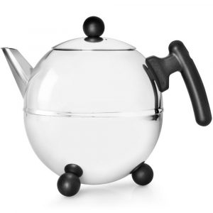 Bredemeijer teapot Duet Bella Ronde black fittings