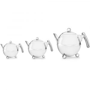 Bredemeijer teapot Duet Bella Ronde chrome fittings