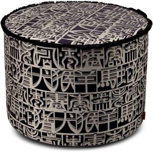 Missoni Home cylinder pouf Ideogramma Silk 601