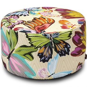 Missoni Home mini cylinder pouf Venice