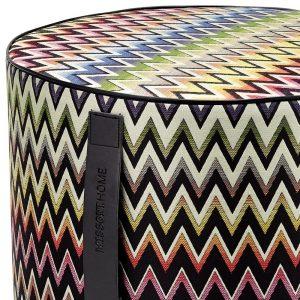 Missoni Home cylinder pouf Vernal