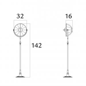Fortuny Atelier 41 floor lamp silver leaf