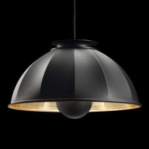 Fortuny Cupola pendant lamp black - gold leaf