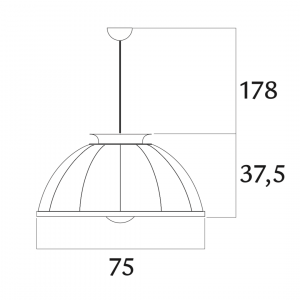 Fortuny Cupola pendant lamp white