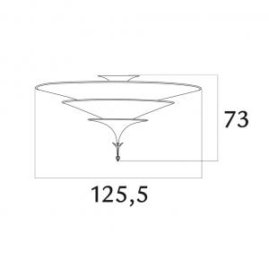 Fortuny Icaro 126 3-tier chandelier ivory