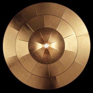 Fortuny Icaro 126 3-tier chandelier gold leaf