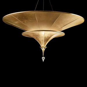 Fortuny Icaro 86 2-tier chandelier gold leaf