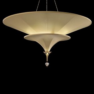 Fortuny Icaro 86 2-tier chandelier ivory
