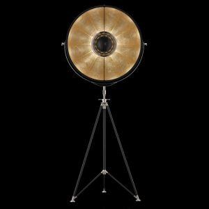 Fortuny Studio 76 floor lamp black - gold leaf