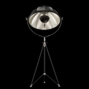 Fortuny Studio 76 floor lamp black - silver leaf