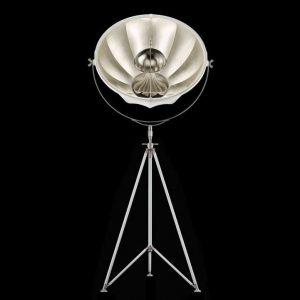 Fortuny Studio 76 floor lamp white - silver leaf