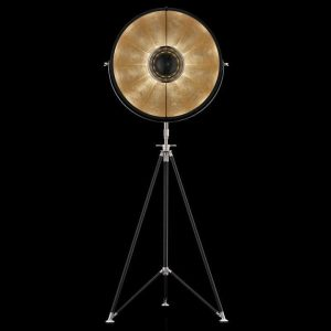 Fortuny Studio 63 floor lamp black - gold leaf