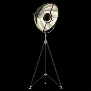 Fortuny Studio 63 floor lamp black - silver leaf