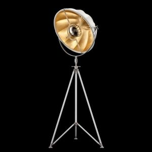 Fortuny Studio 63 floor lamp white - gold leaf