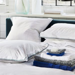 Designers Guild bed linen Astor Midnight-Aqua