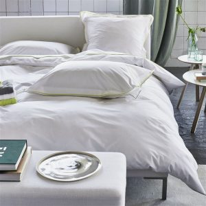 Designers Guild bed linen Astor Pale Grey-Lime