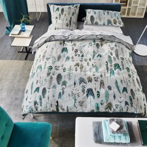 Designers Guild bed linen Quill Duck Egg