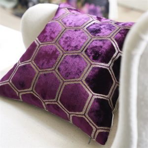 Designers Guild cushion Manipur Damson