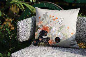 Jean Paul Gaultier Home cushion Sayoko Gris