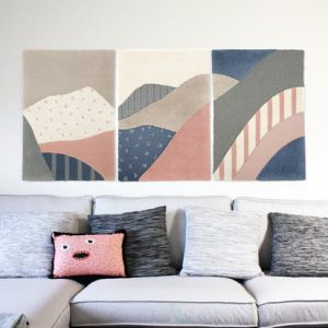 My Friend Paco Hanoi triptych wall rug