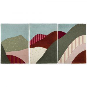 My Friend Paco Hoian triptych wall rug