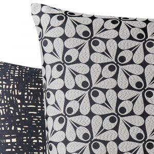 Orla Kiely cushion Acorn Cup Charcoal