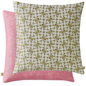Orla Kiely cushion Acorn Cup Moss