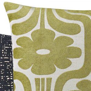 Orla Kiely cushion Climing Daisy Yellow-Olive