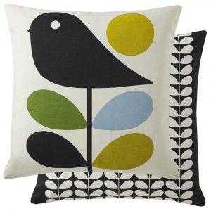 Orla Kiely cushion Early Bird Duck Egg
