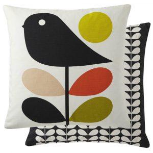 Orla Kiely cushion Early Bird Pale Rose
