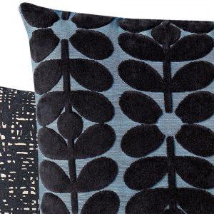 Orla Kiely cushion Sixties Stem Dark Marine