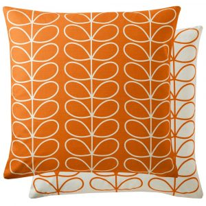Orla Kiely cushion Small Linear Stem Persimmon