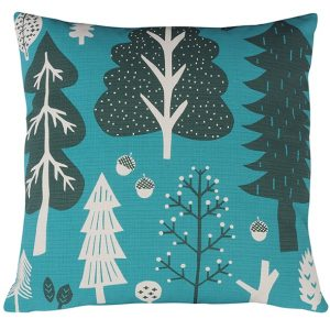 Donna Wilson cushion Forest turquoise