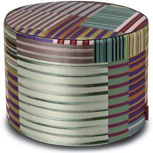 Missoni Home cylinder pouf Winslow 160